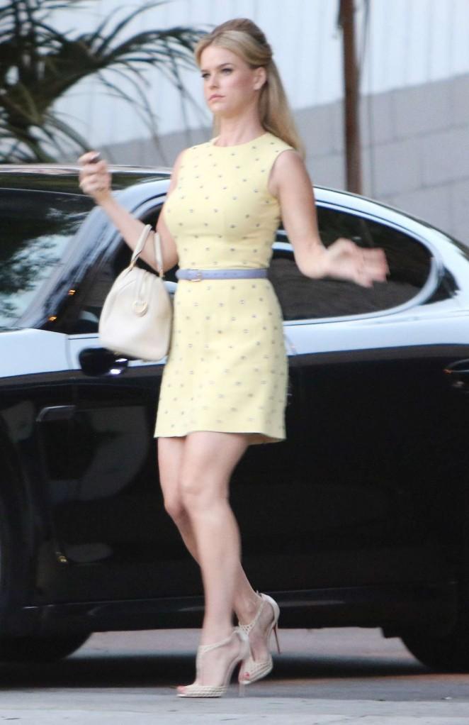 alice eve in yellow mini dress gotceleb