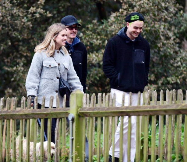 Alice Eve - Out with her brothers in London's Notting Hill Park