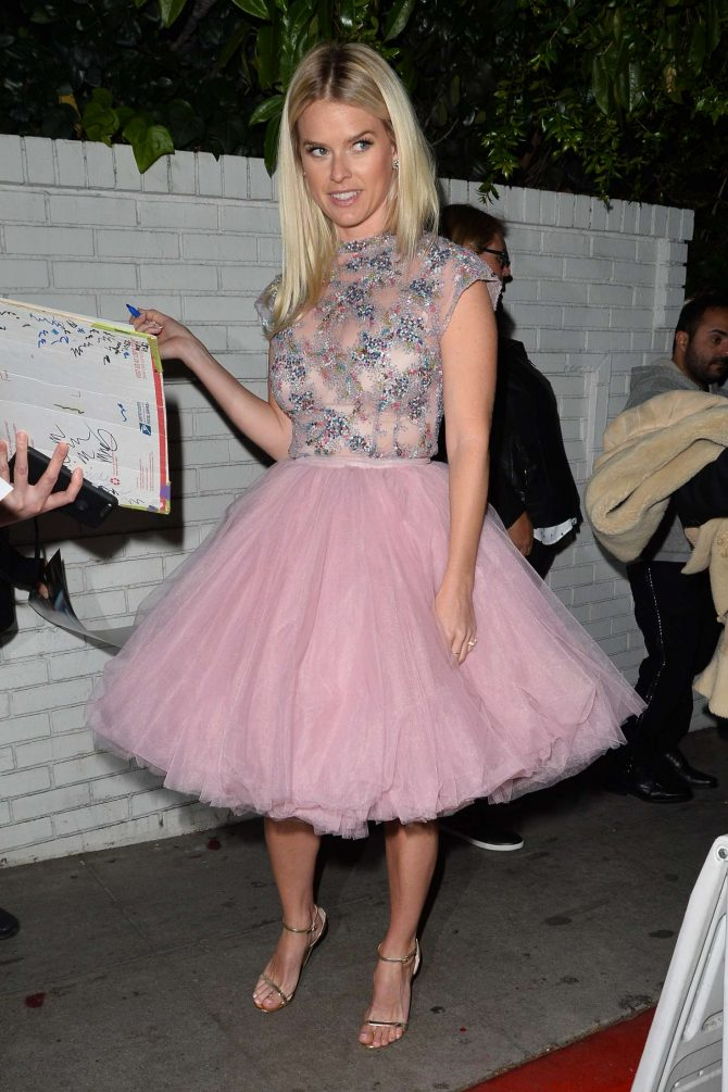 Alice Eve - Outside W Magazine Celebrates Its 'Best Performances' Portfolio Party in LA