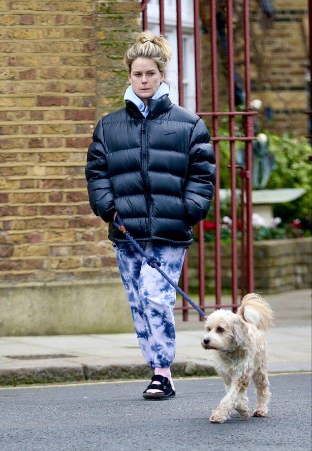 Alice Eve - Seen walking her dog in London