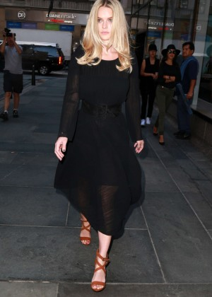 Alice Eve: Visits the Today show -02