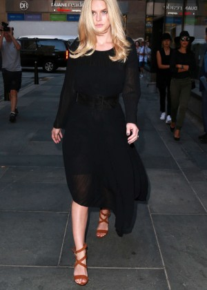 Alice Eve: Visits the Today show -06