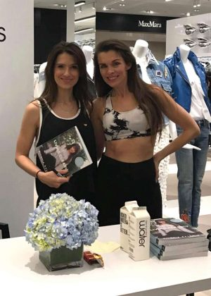 Alicia Arden at 'Morning Yoga' with Hilaria Baldwin in Century City