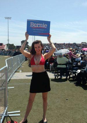 Alicia Arden - Bernie Sanders Rally in Santa Maria