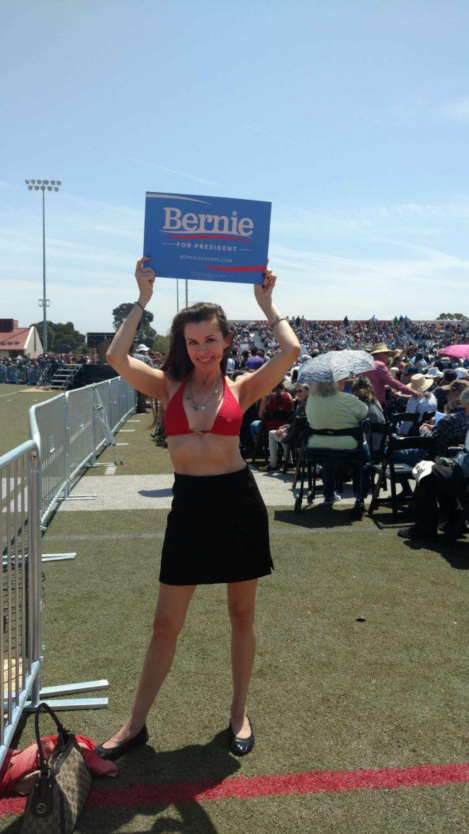 Alicia Arden – Bernie Sanders Rally in Santa Maria
