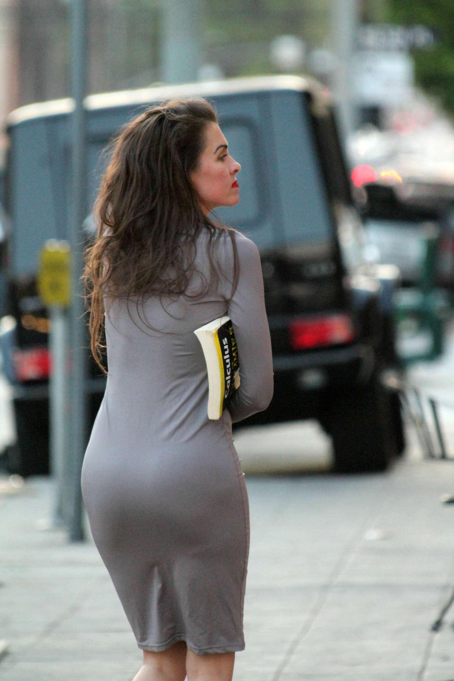 Alicia Arden in a tight grey dress  21   GotCeleb