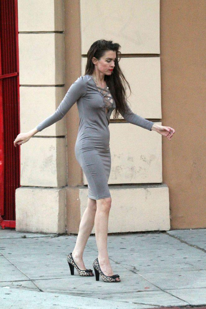 7ce0525ad549 Alicia Arden in a tight grey dress -26 – GotCeleb