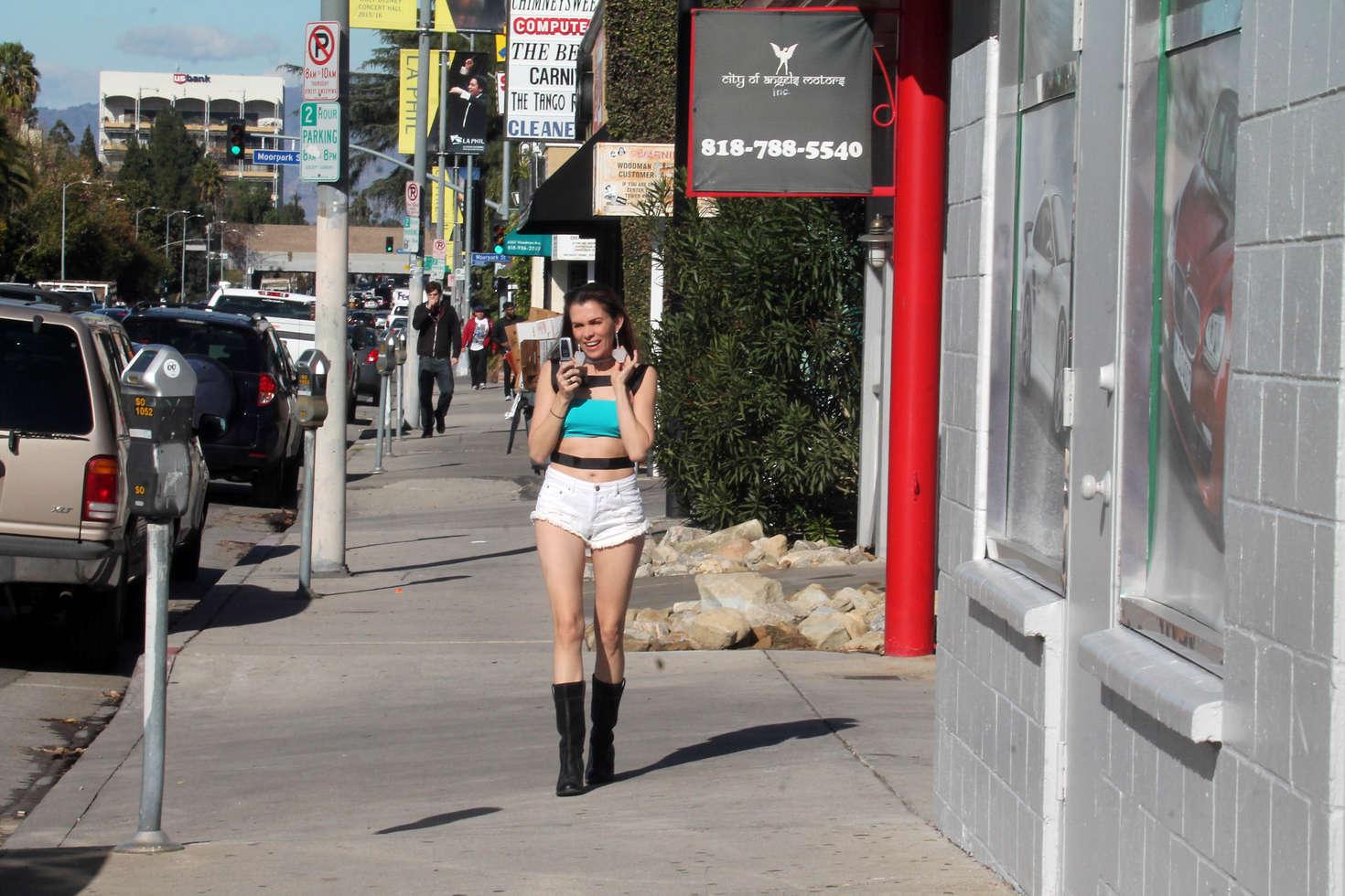 Alicia Arden 2016 : Alicia Arden in Jeans Shorts -17