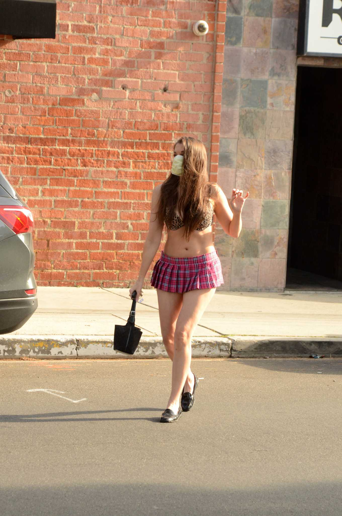 Alicia Arden in Mini Skirt out in Los Angeles