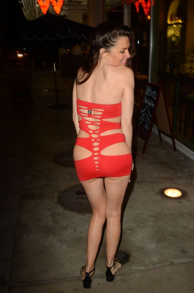 Alicia Arden in Red Dress for New Years Eve -12