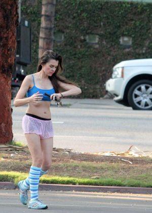 Alicia Arden - Leaving Yoga class in Los Angeles