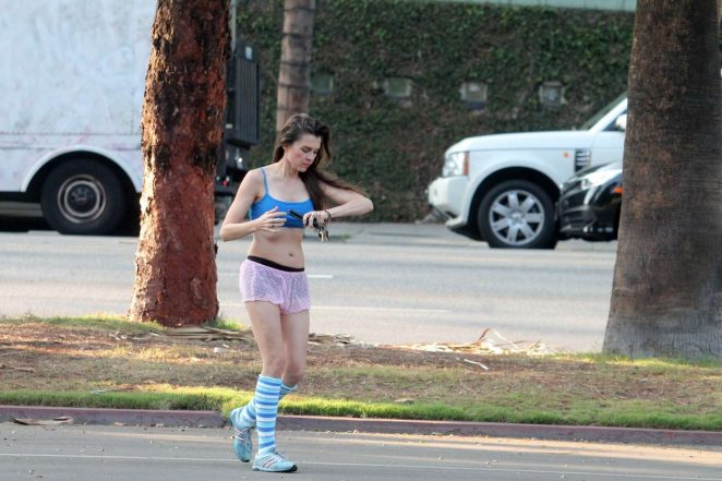 Alicia Arden – Leaving Yoga class in Los Angeles