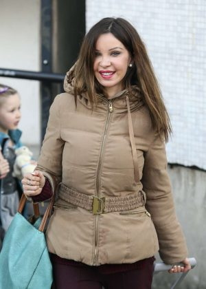 Alicia Douvall at the ITV studios in London