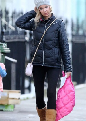 Alicia Douvall in Tights out in London