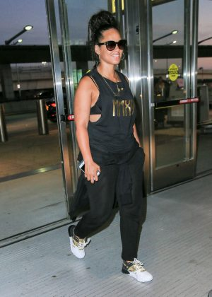 Alicia Keys at JFK Airport in NYC