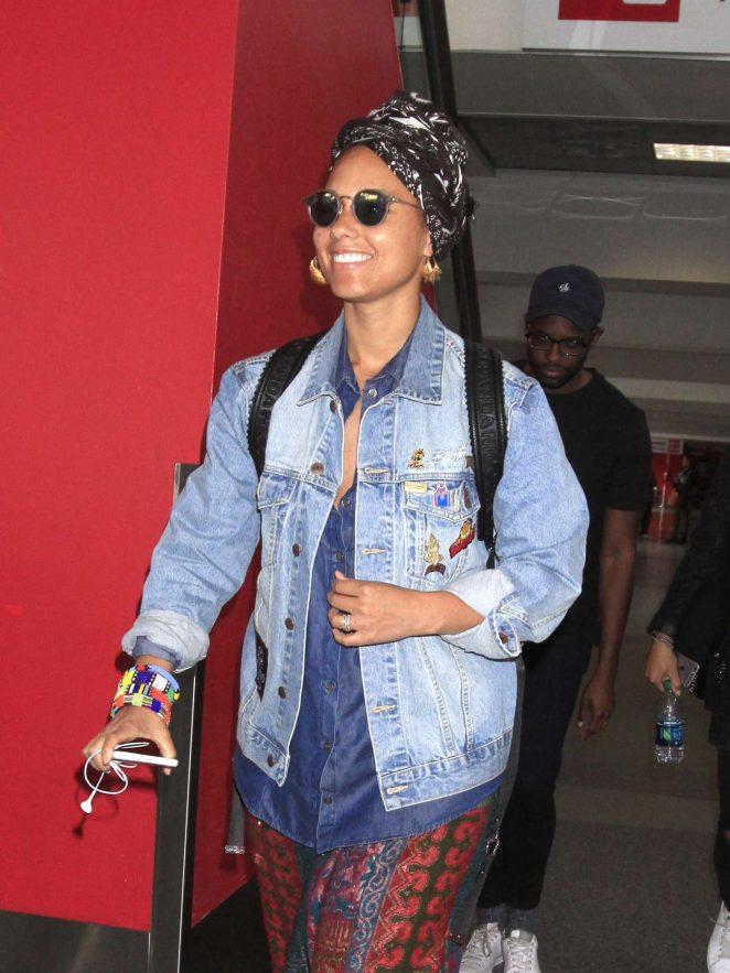 Alicia Keys at LAX Airport in LA