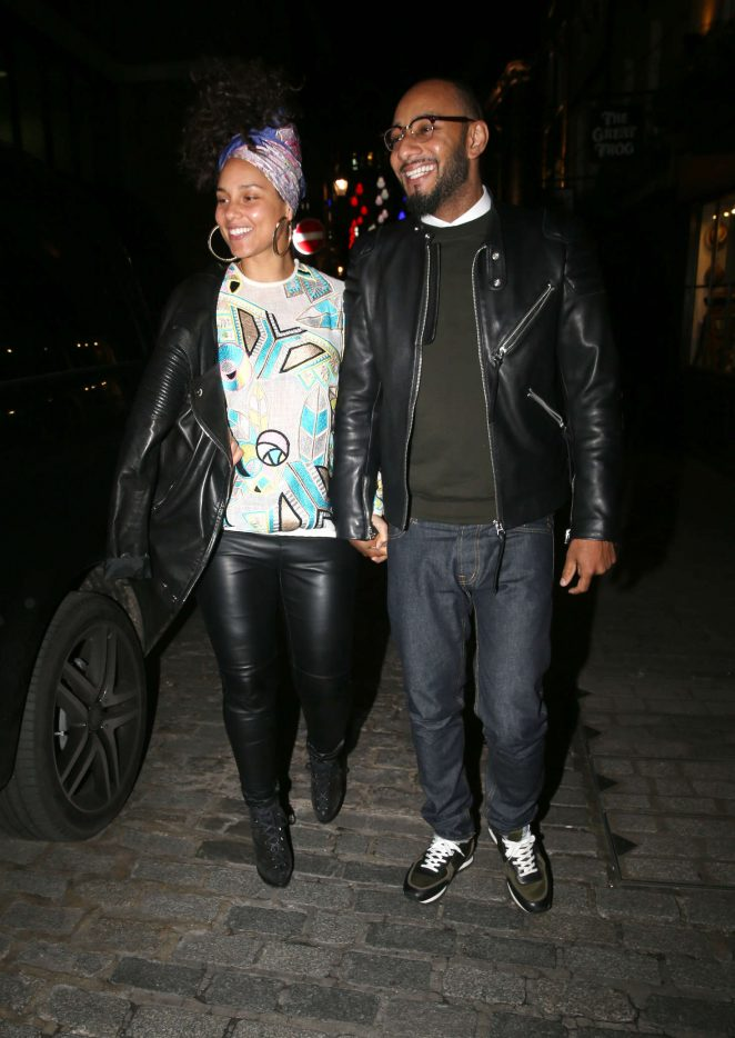 Alicia Keys at Novikov Restaurant in London