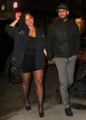 Alicia Keys At The Musket Room For Dinner In Nyc Gotceleb