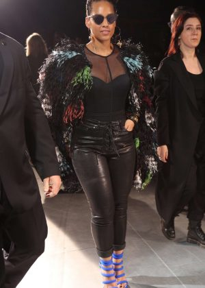 Alicia Keys at Yohji Yamamoto Fashion Show in Paris