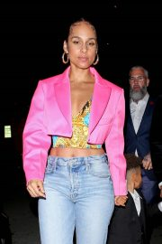 Alicia Keys - Leaves a Post Grammy Event at Mr Chow in Beverly Hills
