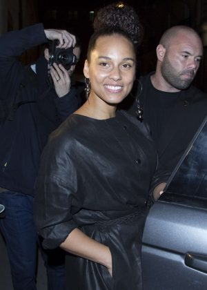 Alicia Keys Leaving the Isabelle Marrant Show in Paris