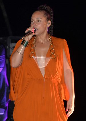 Alicia Keys Performs at the Porsche Design Tower Miami in Sunny Isles