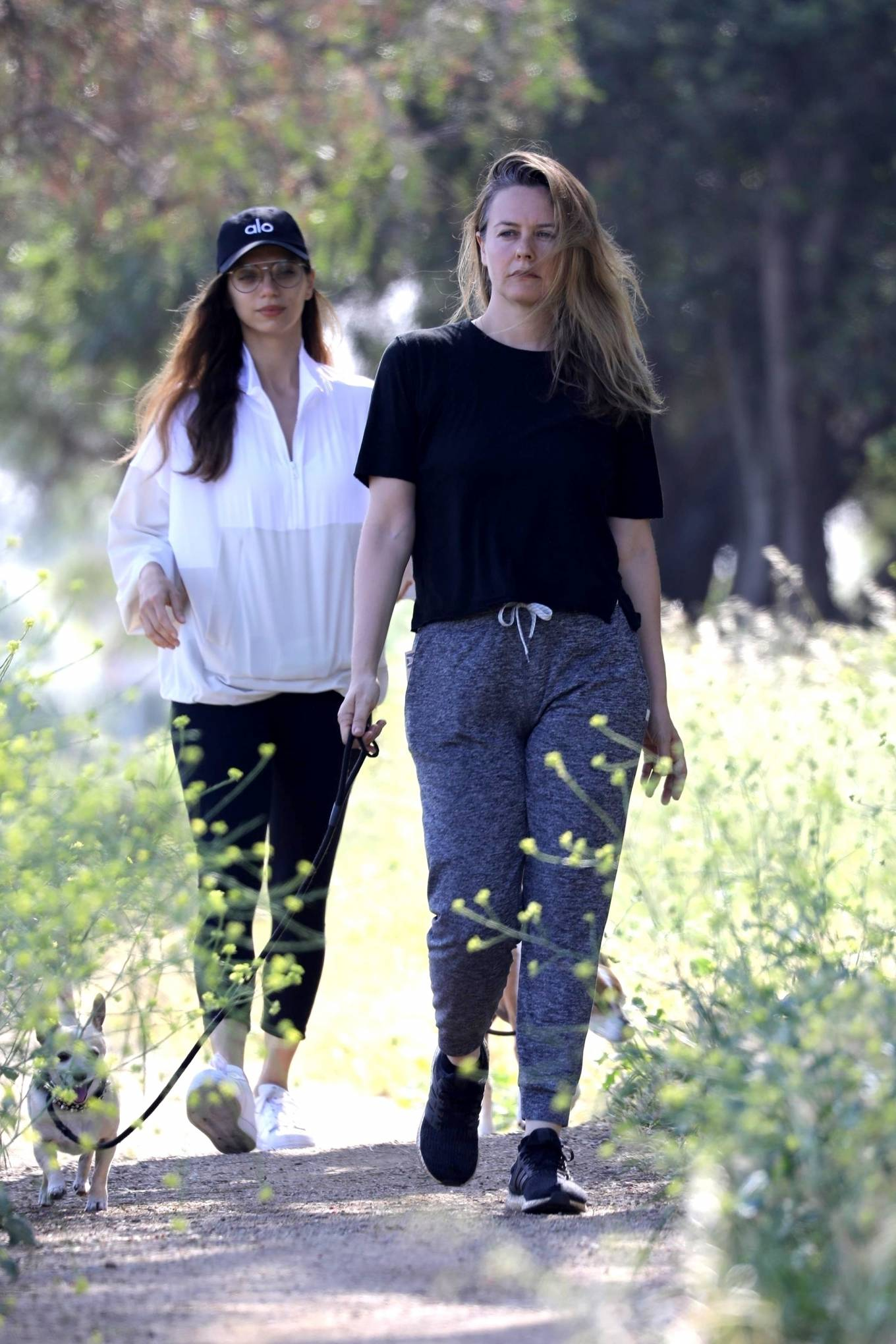 Alicia Silverstone and Angela Sarafyan - Out for a dog walk