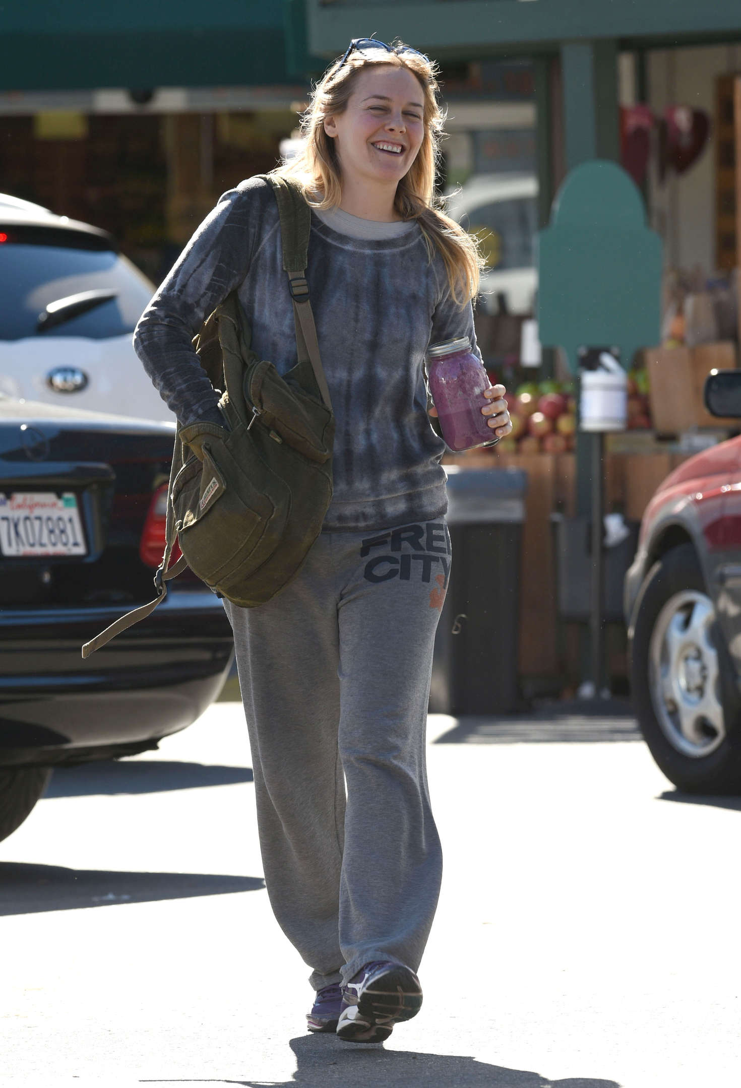Alicia Silverstone at Whole Foods in Los Angeles