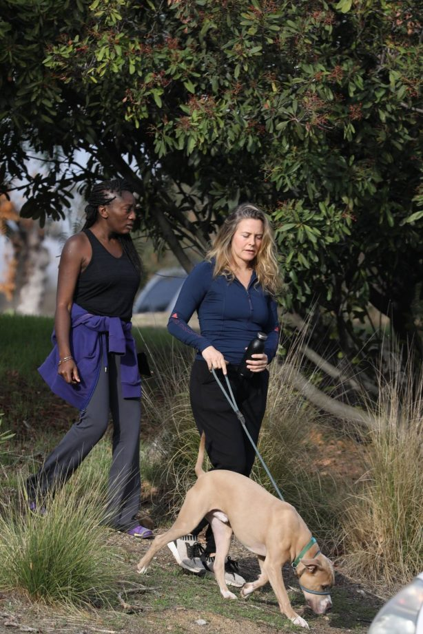 Alicia Silverstone - hike with a friend and her dog in the hills of Los Angeles