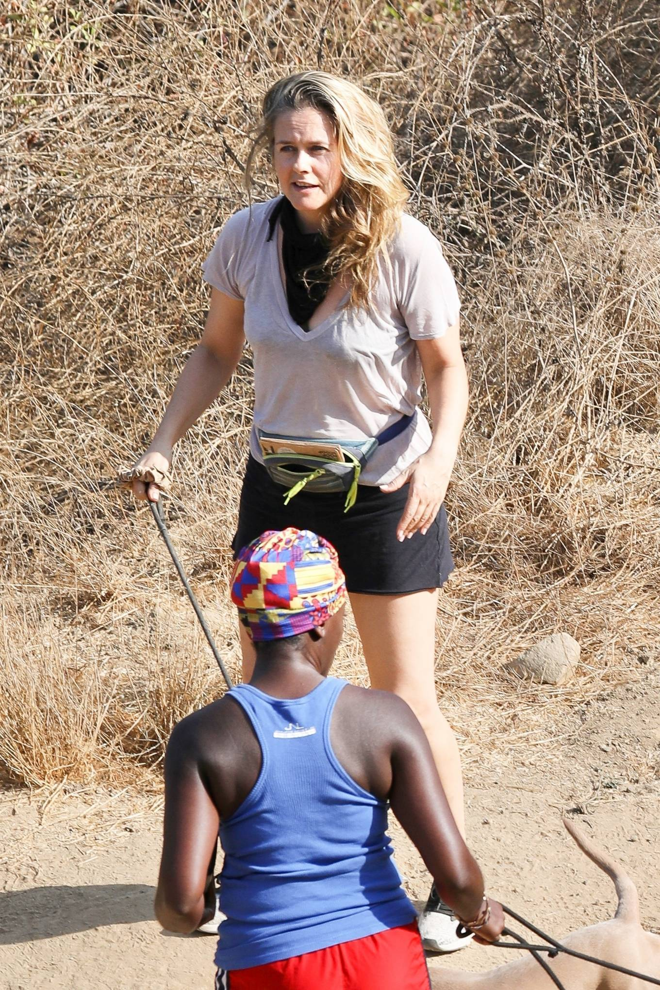 Alicia Silverstone 2020 : Alicia Silverstone – Hike with her dogs and a friend in Los Angeles-04