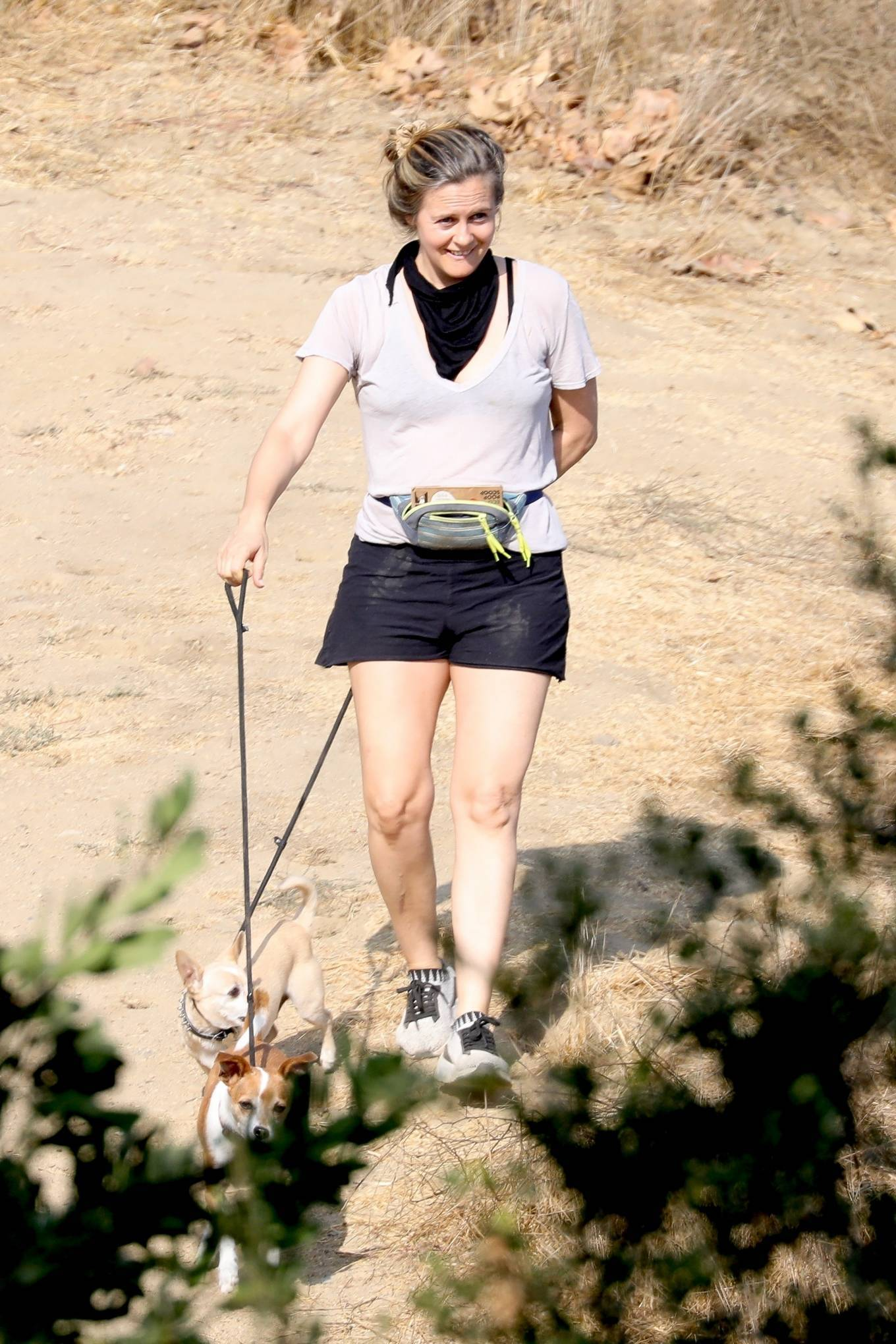 Alicia Silverstone 2020 : Alicia Silverstone – Hike with her dogs and a friend in Los Angeles-06