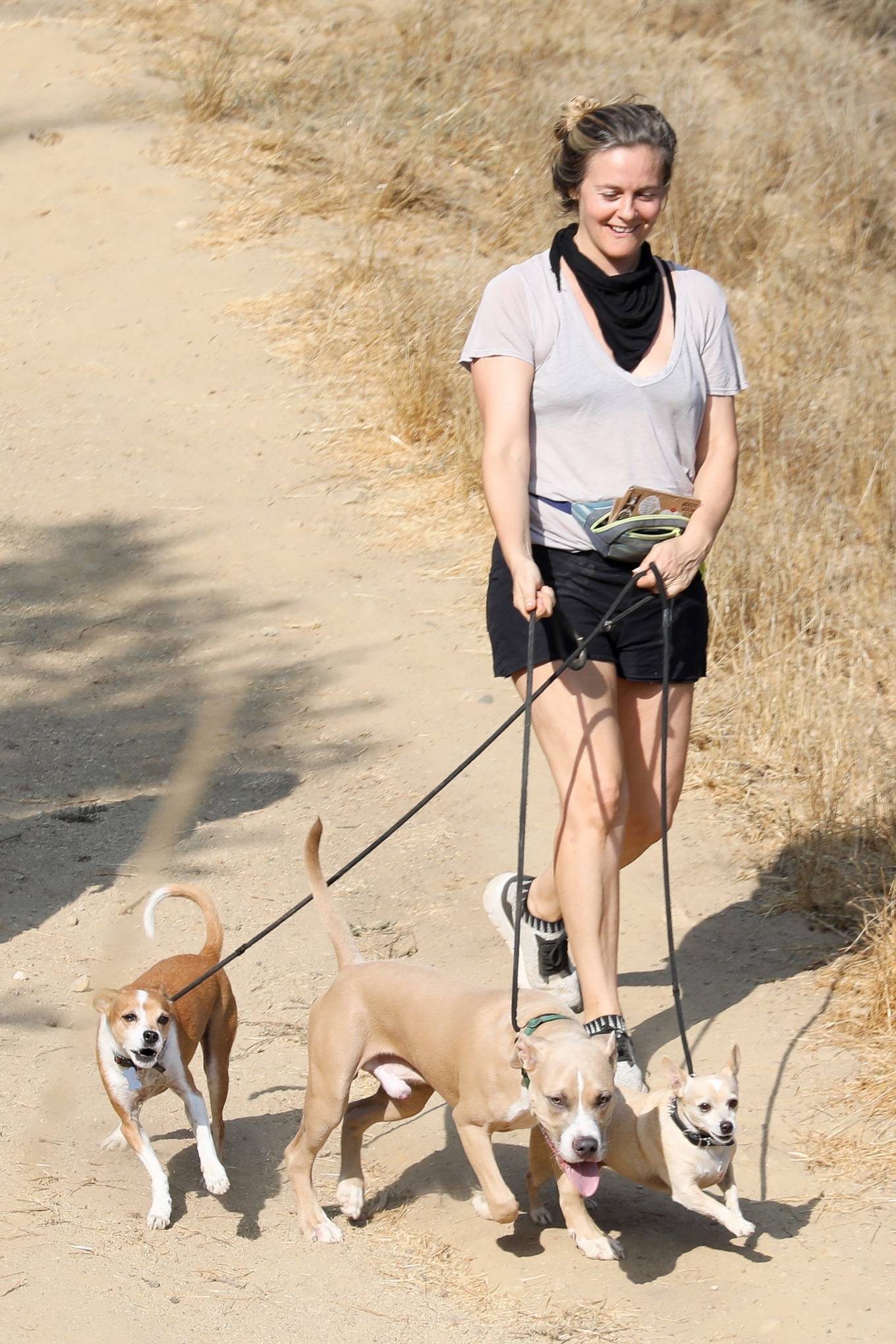 Alicia Silverstone 2020 : Alicia Silverstone – Hike with her dogs and a friend in Los Angeles-09