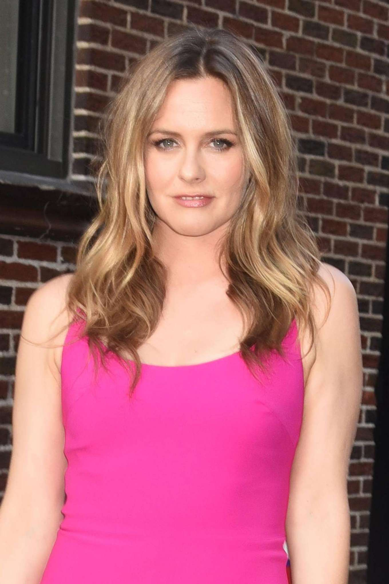 Alicia Silverstone - Seen At Late Show with Stephen Colbert in New York