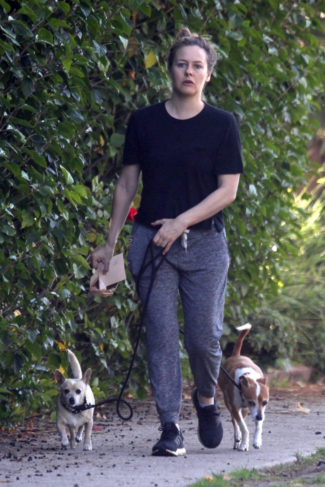 Alicia Silverstone 2020 : Alicia Silverstone – Spotted on dog walk in LA-14
