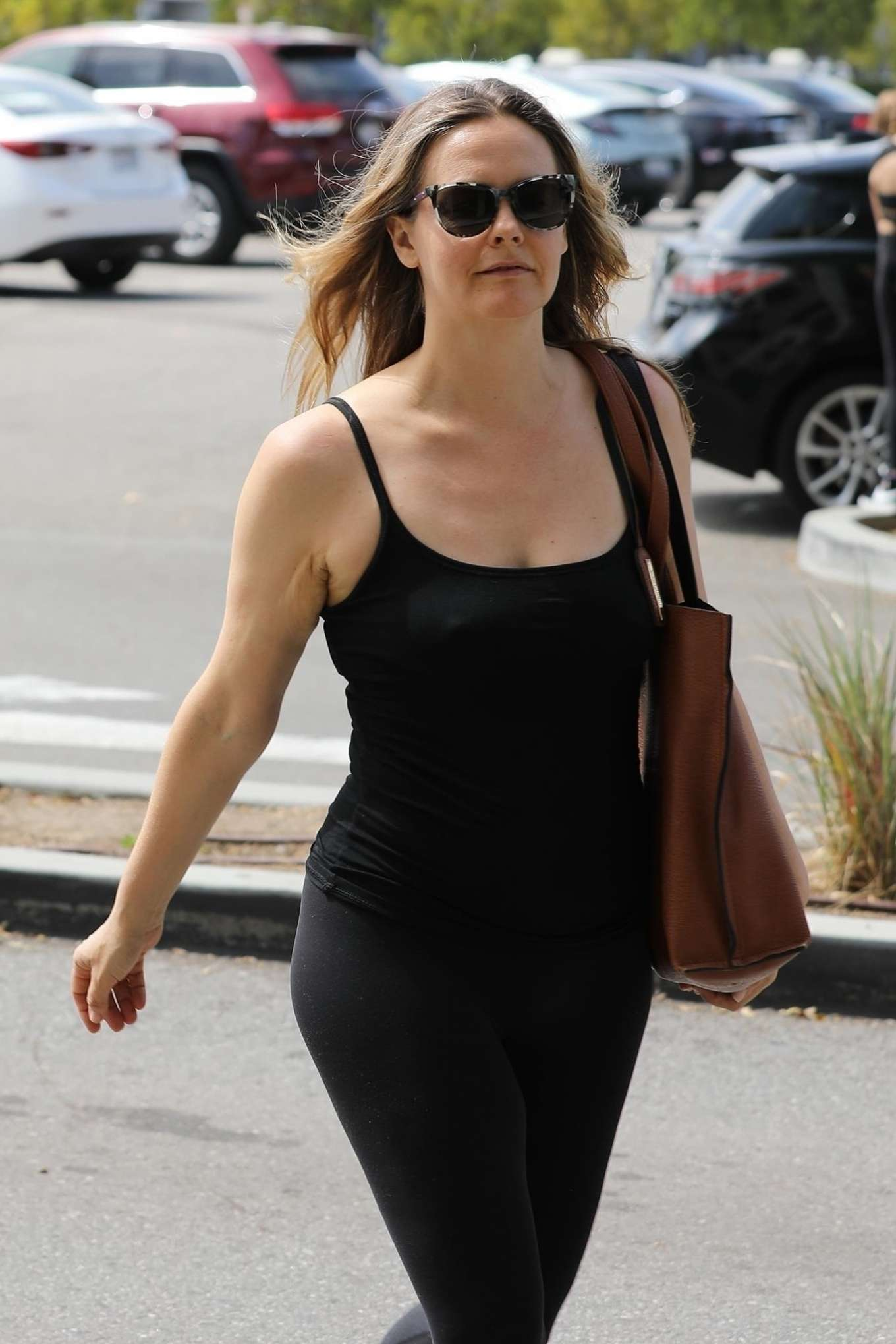 Alicia Silverstone - Spotted out in Los Angeles