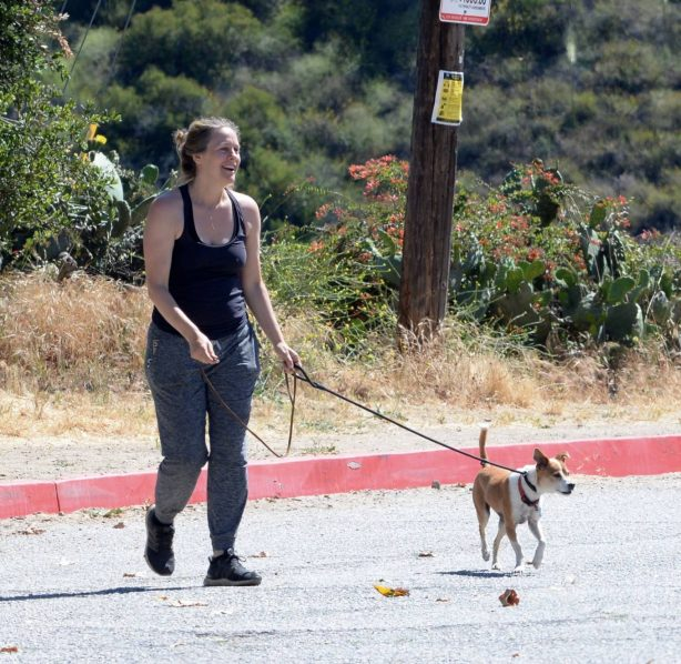 Alicia Silverstone - With her dogs while out for a hike in LA