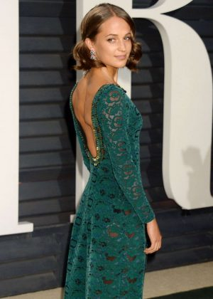 Alicia Vikander - 2017 Vanity Fair Oscar Party in Hollywood