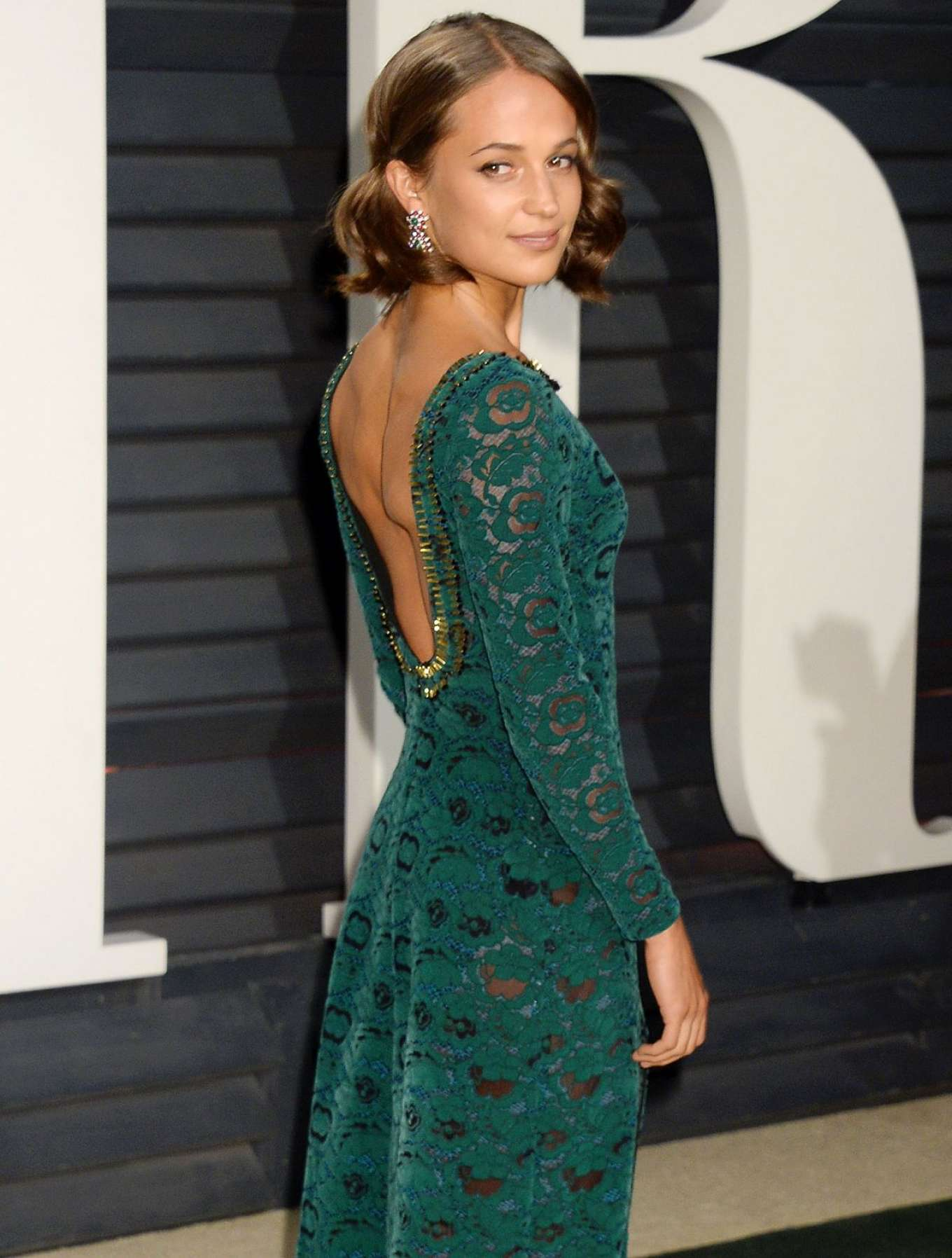 Alicia Vikander 2017 Vanity Fair Oscar Party In
