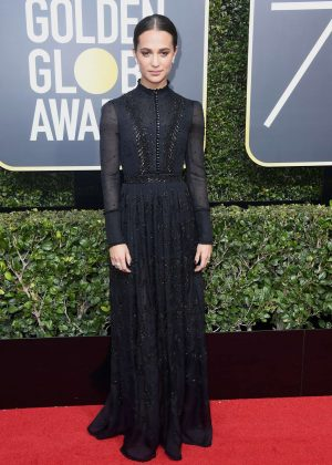 Alicia Vikander - 2018 Golden Globe Awards in Beverly Hills