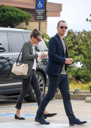 Alicia Vikander and Michael Fassbender at The Soho House in Malibu