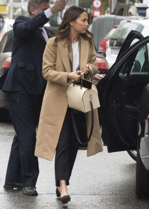 Alicia Vikander and Michael Fassbender out for lunch in Madrid