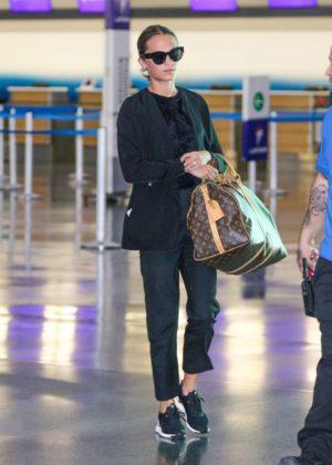 Alicia Vikander - Arriving at JFK Airport in New York City