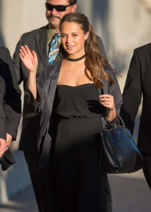Alicia Vikander - Arriving at 'Jimmy Kimmel Live' in LA