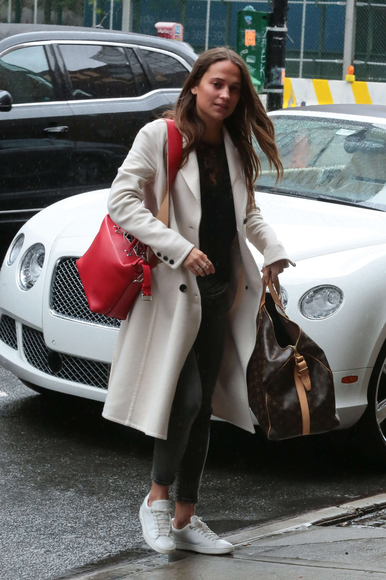 Alicia Vikander arriving her hotel in New York City