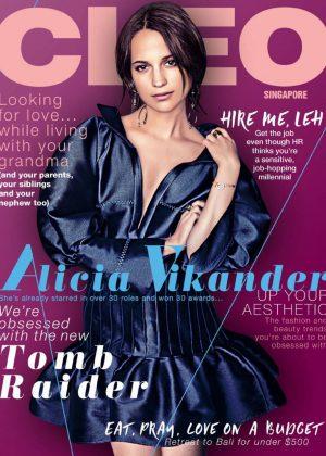 Alicia Vikander - Cleo Singapore Magazine (March 2018)