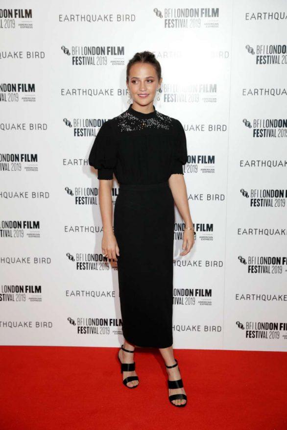 Alicia Vikander - 'Earthquake Bird' Premiere - 2019 BFI London Film Festival