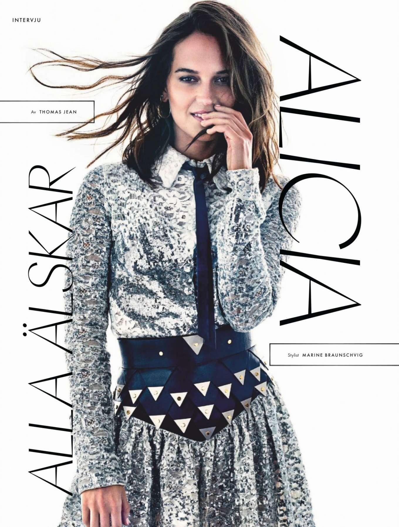 Alicia Vikander - ELLE Sweden Magazine (December 2019)