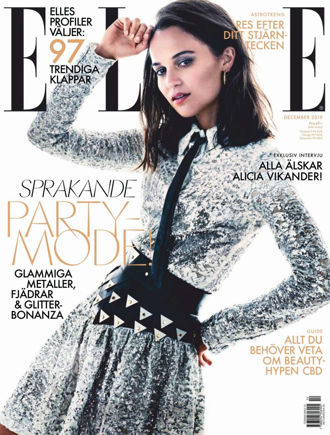Alicia Vikander 2019 : Alicia Vikander – ELLE Sweden 2019-05