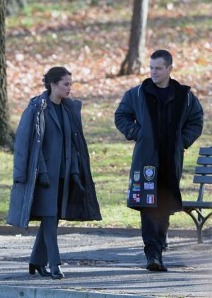 Alicia Vikander - Filming 'Untitled Bourne 5' Movie in Washington