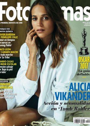 Alicia Vikander - Fotogramas Spain Magazine (March 20180
